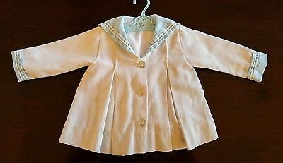 Vintage 50's 60's  Fawn Togs Baby Toddler Sailor Coat Jacket 12 mths Boy or Girl