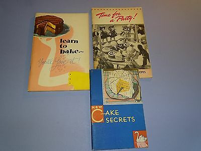 Learn to Bake Cake Secrets Time for a Party Swans Down Flour Recipes Lot Calumet