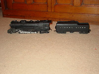 LIONEL 736 BERKSHIRE AND 2046W Tender Smokes and runs Great