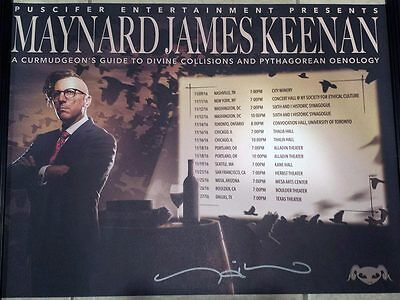 Maynard James Keenan Poster Perfect Union of Contrary Things Autographed Signed
