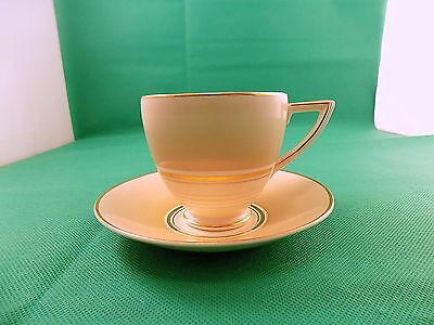 Wedgwood Cream / Gold Cup & Saucer c.1956