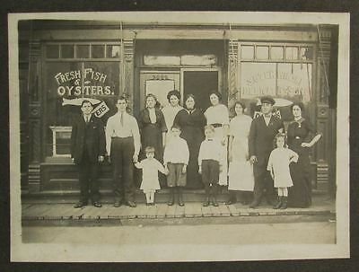 Fresh Fish & Oysters Sign Store Front Photograph Czerwinski Delicatessen Chicago
