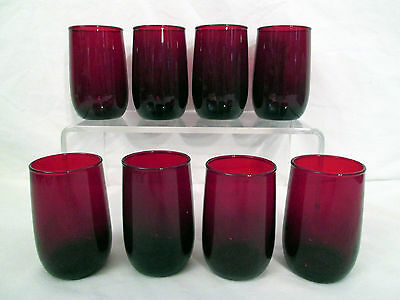 Vintage Anchor Hocking Ruby Red 4 Ounce Glasses – Set of 8 - Pristine