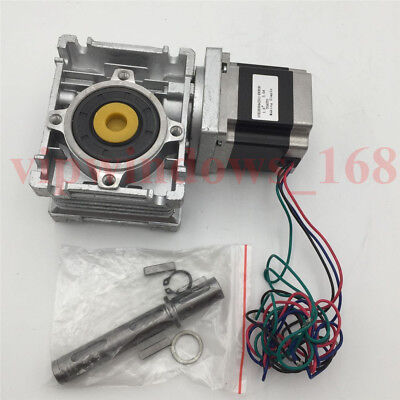 Nema23 Gear Ratio 10:1 Gearbox 11Nm Stepper Motor L56mm 3A Worm Reducer CNC