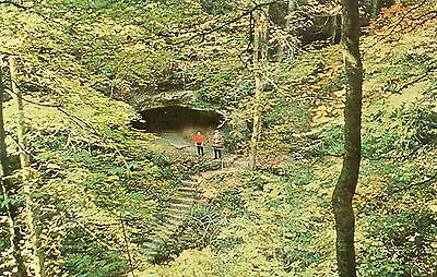 The Sven Caves Steps Leading From Dancing Cave, West of Bainbridge, Ohio
