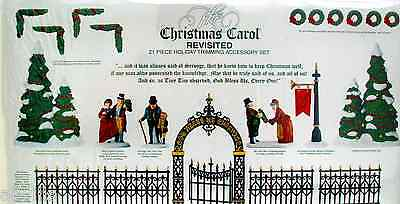 Christmas Carol Holiday Trimming - Dept 56 Dickens Village Accessory Set Of 21