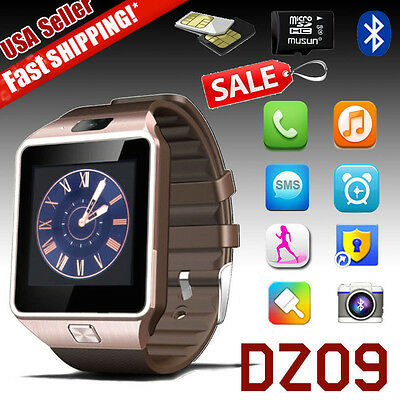 DZ09 Smart Watch Bluetooth GSM SIM Camera for iPhone Samsung LG Android IOS Mate