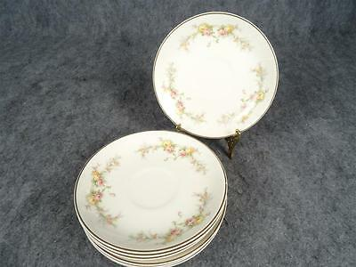 Harker Pottery Co. Saucers Shadow Rose Pattern X7