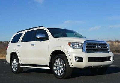 2012 Toyota Sequoia Platinum All Wheel Drive 2012 Sequoia Platinum AWD Immaculate One Owner Entertainment Navigation