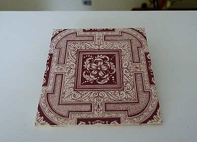 Antique Tiles X 4 Made In England