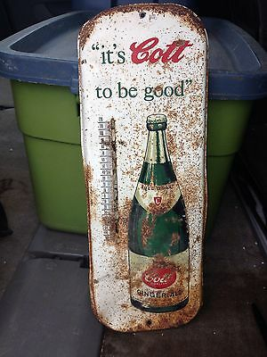 "16"" Cott Ginger Ale Thermometer Sign"