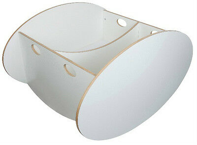 NEW Baby Home So-Ro Twin WHITE Infant Nursery Rocking Cradle