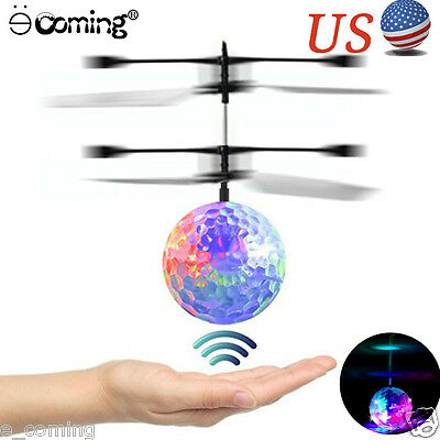Hand Flying UFO Ball LED Mini Induction Suspension RC Aircraft Flying Toy Gift