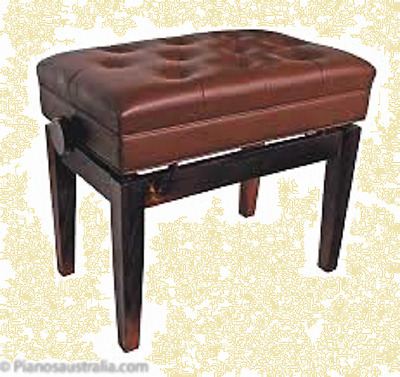 PIANO STOOLS High quality in Burgundy deep buttoned fixed height music storage