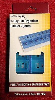 Twice-A-Day AM PM WEEKLY Pill Boxes Case Cabinet Organizer Tray Brand New