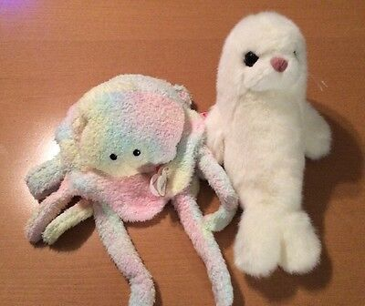 Ty Beanie Buddies Goochy The Jellyfish And Misty The Seal