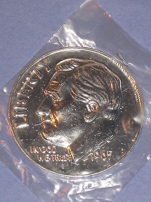 "1965 Liberty Dime Big 3"" Plastic Coin - Novelty - Magic - NIP"