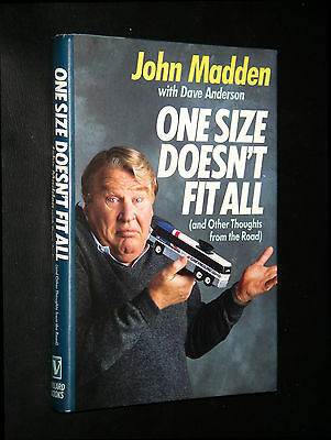 Madden, John;  ~ ONE SIZE DOESN'T FIT ALL ~  1988;  HC/DJ;   true 1st/1st;   VG+