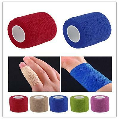 First Aid Body Care Treatment Self-Adhesive Elastic Ankle Bandage Gauze Tape Y1