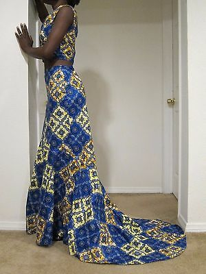 African Maxi print skirt African Clothing