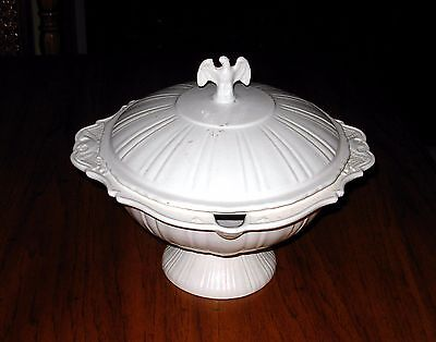 Antique American Eagle Tureen And Underplate By Lane And Company, Van Nuys, Cali