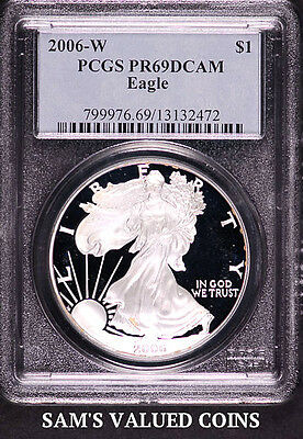 2006-W $1 American Silver Eagle Proof Coin PCGS PR69DCAM