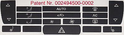 Saab 9-3 2003 - 2006 climate control A/C heater buttons button surface repair