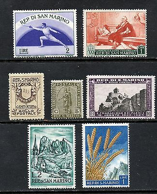 San Marino 7 assorted mint issues