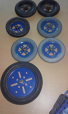 Collection(#19B20A/142A/142B) Vintage Meccano Tyre/pulley