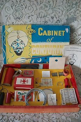 """Vintage 1950's Magic Set """"Cabinet Of Conjuring"""" E&S Products Made England"""