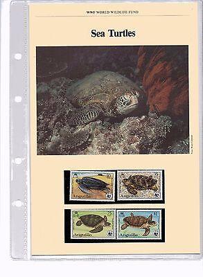 1983 WWF Sea Turtles MNH Stamps, FDCs & Information Sheets - 10 August 1983