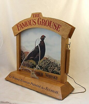 promotional pub game (breathalyzer) The Famous Grouse stand collector whisky