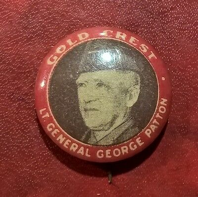 Gold Crest General George Patton WWII Badge #71