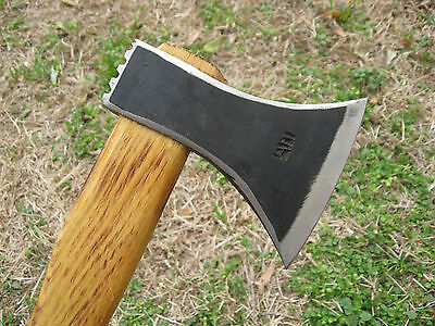 1.43 Lbs Forged Wrought Bearded Camping Axe Viking Tomahawk Hatchet Hunting Tool