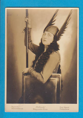 Opera : MARGARETE KLOSE  original vintage photo-postcard-Waltraute
