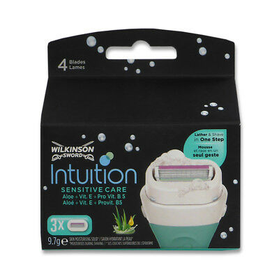 30x Wilkinson Rasierklingen Intuition Care Naturals Sensitive NEU