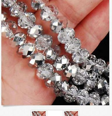 Hot Selling! 4x6mm silvery AB Crystal Loose Crystal Gemstone Loose Beads K561