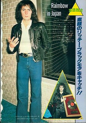 Rainbow / Ritchie Blackmore - Clippings From Japanese Magazine Music Life 3/78