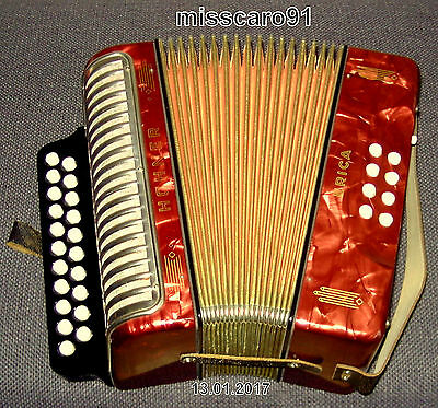 Top !   Vitage !  Germany Hohner  Erica   Button   Accordion