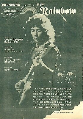 Rainbow / Ritchie Blackmore - Clippings From Japanese Magazine Music Life 12/82