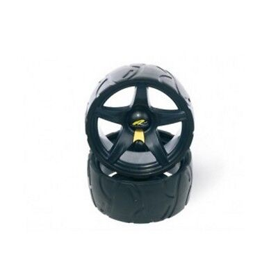 Powakaddy Wide Trolley Wheels (Pair) Black