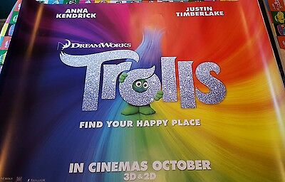 Genuine original cinema poster trolls 30x40 double sided not a print
