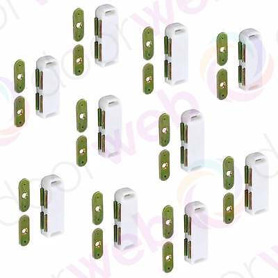 LARGE MAGNETIC DOOR CATCH 65mm Heavy Magnet Cupboard Cabinet WHITE 2-10 PACK