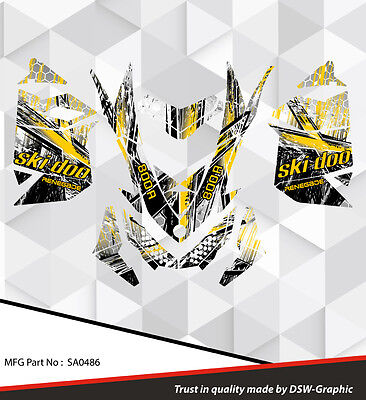 SKI-DOO XP MXZ SNOWMOBILE SLED WRAP GRAPHICS STICKER DECAL KIT 2008-2013 sA0486