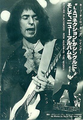 Rainbow / Ritchie Blackmore - Clippings From Japanese Magazine Music Life 10/78