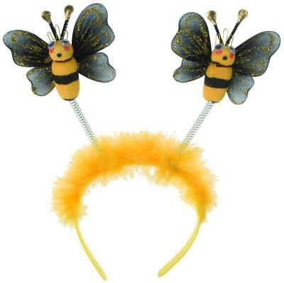 ** Bumble Bee Head Boppers Headband Childrens  Adult Fancy Dress New **  Bee