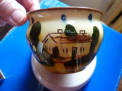 Motto  Ware Small Bowl - Pottery Not Marked,  -  Perfect With A Bit Of Crazing