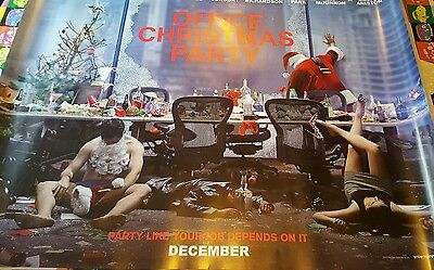 Genuine original cinema poster office Christmas party 30x40 double sided