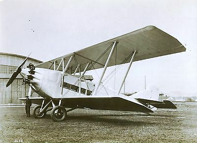 Large Photograph Of An Early Biplane Airliner