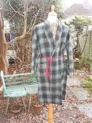 Vintage All Wool Smoking Jacket / Dressing Gown / Robe chest 38c""